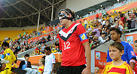 Christine Sinclair of team Canada enters the pitch during the FIFA Women's World Cup at the FIFA Stadium in Dresden, Germany on July 5th, 2011.