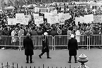 1969 FILE PHOTO - ARCHIVES -<br /> <br /> Before the Blowup everything was peaceful as Quebeckers gathered to protst a provincial government bill that would insure English-language education<br /> <br /> 1969<br /> <br /> PHOTO :  Doug Griffin - Toronto Star Archives - AQP