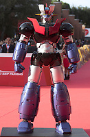 "Il robot Maligna Z sul red carpet in occasione della presentazione del film ""Mazinga Z Infinity"" alla Festa del Cinema di Roma , 27 0ttobre 2017.<br /> Mazinga Z robot on the red carpet for the movie ""Mazinga Z Infinity"" during the international Rome Film Festival at Rome's Auditorium, October 27, 2017.<br /> UPDATE IMAGES PRESS"