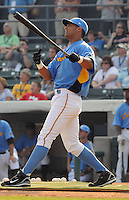 June 24, 2008: Ernesto Mejia won the Home Run Derby at the Carolina-California All-Star Game on June 24, 2008, at BB&T Coastal Field in Myrtle Beach, S.C. Photo: Tom Priddy /  Four Seam Images