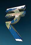 Indian Rupee symbolizing concept of global finance