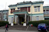 ETHIOPIA , Addis Ababa, , old palace of emperor Haile Selassie, today ethnographical museum of Institute for ethiopian studies, University of Addis Abeba