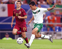 Omar Bravo (19) of Mexico winds up for a shot. Portugal defeated Mexico 2-1 in their FIFA World Cup Group D match at FIFA World Cup Stadium, Gelsenkirchen, Germany, June 21, 2006.