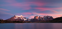sunrise over Torres del Paine, Patagonia, Chile