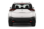 Straight rear view of 2021 Nissan Rogue S 5 Door SUV Rear View  stock images