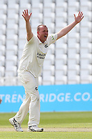 Luke Fletcher of Nottinghamshire appeals for the wicket of Ryan ten Doeschate during Nottinghamshire CCC vs Essex CCC, LV Insurance County Championship Group 1 Cricket at Trent Bridge on 9th May 2021