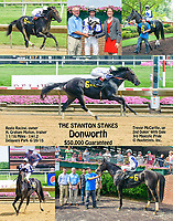 Donworth winning The Stanton Stakes at Delaware Park on 6/20/15