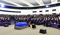 European Ceremony of Honour for Dr. Helmut KOHL, Former Chancellor of the Federal Republic of Germany and Honorary Citizen of Europe (1930 - 2017) at the European Parliament in Strasbourg<br /> - Ceremony # CEREMONIE D'HOMMAGE A HELMUT KOHL AU PARLEMENT EUROPEEN