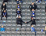 17.10.2020, OLympiastadion, Berlin, GER, DFL, 1.FBL, Hertha BSC VS. VfB Stuttgart, <br /> DFL  regulations prohibit any use of photographs as image sequences and/or quasi-video<br /> im Bild Hertha-BSC-Fans, <br /> <br />       <br /> Foto © nordphoto / Engler