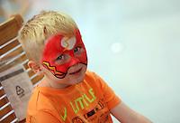 Rio Alvis, 5 has his face painted