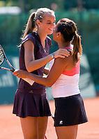 8-6-08, Amsterdam, Popeye Goldstar, finale Playoffs tenniscompetitie, Team Manege kampioen tenniscompetitie, Rus(l) en Wong halen het beslissende punt voor de Manege binnen en vallen elkaar in de armen