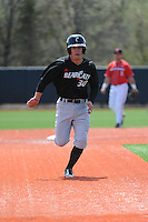 University of Cincinnati Bearcats infielder Ryan Quinn (30) during a game against the Rutgers University Scarlet Knights at Bainton Field on April 19, 2014 in Piscataway, New Jersey. Rutgers defeated Cincinnati 4-1.  (Tomasso DeRosa/ Four Seam Images)