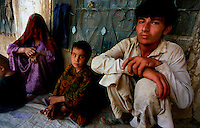 Peshawar / Pakistan.Afghan refugees fled to Pakistan because of the ongoing war between the Taliban and troops of NATO Coalition..Photo Livio Senigalliesi