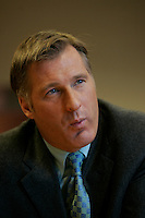 Montreal (Qc) CANADA - file photo- Dec 8, 2006- <br /> Maxime Bernier.<br /> <br /> The Honourable Maxime Bernier<br /> Minister of Foreign Affairs<br /> <br /> Beauce (Quebec)<br /> <br /> Maxime Bernier, first elected to the House of Commons in 2006, was appointed Minister of Industry on February 6, 2006.<br /> <br /> Before his election, Mr. Bernier was Vice-President of Corporate Affairs and Communications for Standard Life of Canada insurance company, and Director of Business and International Relations at the Commission des valeurs mobiliZres du Québec. He has worked for financial and banking institutions and has provided advice on their behalf on various legislative issues.<br /> <br /> Mr. Bernier is a lawyer with a bachelorOs degree in commerce. He was a member of the board of the Montreal Economic Institute and is a member of several charitable organizations. He was born and raised in Beauce, Quebec.<br /> Photo (c)  Images Distribution