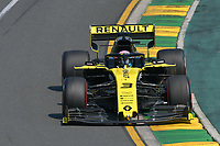 March 16, 2019: Daniel Ricciardo (AUS) #3 from the Renault F1 Team rounds turn 2 during practice session three at the 2019 Australian Formula One Grand Prix at Albert Park, Melbourne, Australia. Photo Sydney Low