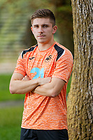 Declan John who has signed a contract with Swansea City FC, at the club's Fairwood Training Ground near Swansea, Wales, UK