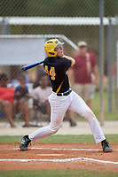 Harrison Owen (44) during the WWBA World Championship at the Roger Dean Complex on October 12, 2019 in Jupiter, Florida.  Harrison Owen attends Florida Virtual High School in Aliso Viejo, CA and is committed to Auburn.  (Mike Janes/Four Seam Images)