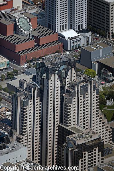 aerial photograph Marriott San Francisco Museum of Modern Art W Hotel SOMA San Francisco, California