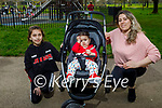 Enjoying a stroll in the Tralee town park on Thursday, l to r: Afridica, Erinda and Assia Koryeziu.