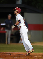 Lake Mary Rams shortstop Brendan Rodgers (3) hits a home run during a game against the Lake Brantley Patriots on April 2, 2015 at Allen Tuttle Field in Lake Mary, Florida.  Lake Brantley defeated Lake Mary 10-5.  (Mike Janes/Four Seam Images)