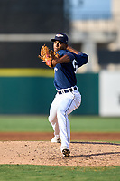 Lakeland Flying Tigers pitcher Isrrael De La Cruz (36) during a game against the Jupiter Hammerheads on July 30, 2021 at Joker Marchant Stadium in Lakeland, Florida.  (Mike Janes/Four Seam Images)