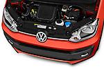 Car stock 2018 Volkswagen Up Cross Up 5 Door Hatchback engine high angle detail view