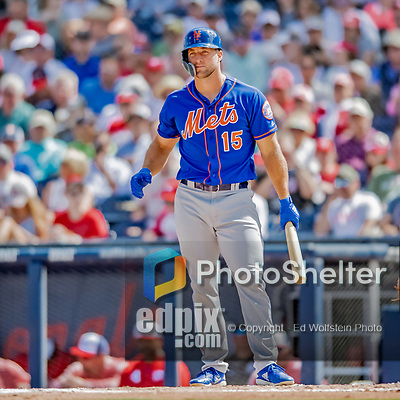 7 March 2019: New York Mets designated hitter Tim Tebow at bat during a Spring Training Game against the Washington Nationals at the Ballpark of the Palm Beaches in West Palm Beach, Florida. The Nationals defeated the visiting Mets 6-4 in Grapefruit League, pre-season play. Mandatory Credit: Ed Wolfstein Photo *** RAW (NEF) Image File Available ***