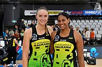 Kelly Jury and Kelera Nawai, ANZ Premiership match between the Pulse and the Stars at Fly Palmy Arena, Palmerston North, New Zealand on Sunday 18 April 2021.<br /> Photo by Masanori Udagawa. <br /> www.photowellington.photoshelter.com