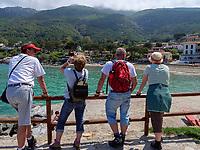 Strand von Sant'Andrea, Elba, Region Toskana, Provinz Livorno, Italien, Europa<br /> beach of Sant'Andrea, Elba, Region Tuscany, Province Livorno, Italy, Europe