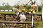 24 April 2010. Ashdale Cruise Master and Oliver Townend fall over the Sink Hole jump during the Rolex Three Day Event's Cross Country test.  Ashdale Cruise Master walked away, while Oliver Townend was airlifted to the hospital.