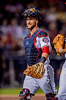 23 February 2019: Washington Nationals catcher Yan Gomes returns to the dugout during play against the Houston Astros at the Ballpark of the Palm Beaches in West Palm Beach, Florida. The Nationals walked off with a 7-6 Opening Game win to start the Grapefruit League season. Mandatory Credit: Ed Wolfstein Photo *** RAW (NEF) Image File Available ***