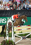 19 April 2009: Beezie Madden (USA) and Danny Boy at the Rolex World Cup Jumping Final round.