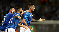 Football: Uefa European under 21 Championship 2019, Italy - Spain Renato Dall'Ara stadium Bologna Italy on June16, 2019.<br /> Italy's Lorenzo Pellegrini (r) celebrates after scoring with his teammates during theUefa European under 21 Championship 2019 football match between Italy and Spain at Renato Dall'Ara stadium in Bologna, Italy on June16, 2019.
