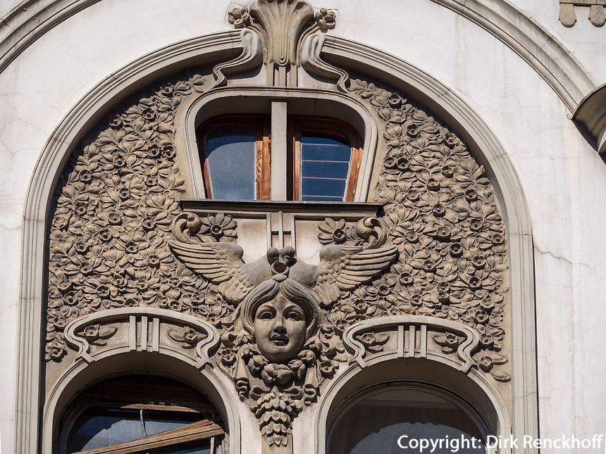 Jugendstil in der  Kralja Petra, Belgrad, Serbien, Europa<br /> Art Nouveau at Kralja Petra, Belgrade, Serbia, Europe
