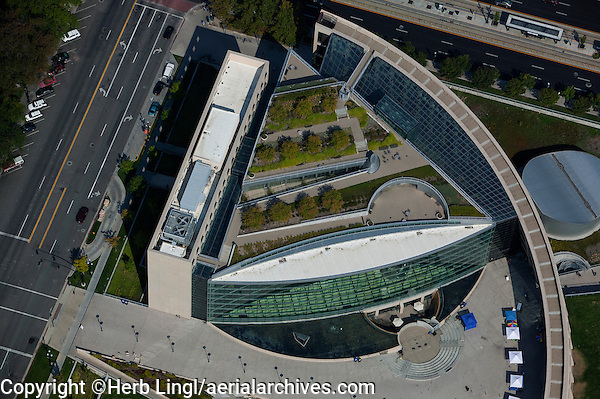 aerial photograph Salt Lake City Public Library, Salt Lake City, Utah