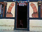 The phallus is a very important image in Bhutanese culture.  the image is used in many ceremonies and is commonly painted on buildings to ward off evil.