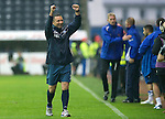 Kilmarnock v St Johnstone...01.10.11   SPL Week 10.A very happy Derek McInnes at full time.Picture by Graeme Hart..Copyright Perthshire Picture Agency.Tel: 01738 623350  Mobile: 07990 594431