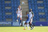 Bolton Wanderers' Gethin Jones heads clear<br /> <br /> Photographer Rob Newell/CameraSport<br /> <br /> The EFL Sky Bet League Two - Colchester United v Bolton Wanderers - Saturday 19th September 2020 - Colchester Community Stadium - Colchester<br /> <br /> World Copyright © 2020 CameraSport. All rights reserved. 43 Linden Ave. Countesthorpe. Leicester. England. LE8 5PG - Tel: +44 (0) 116 277 4147 - admin@camerasport.com - www.camerasport.com