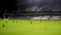 CARSON, CA - OCTOBER 28: LAFC and Houston Dynamo during a game between Houston Dynamo and Los Angeles FC at Banc of California Stadium on October 28, 2020 in Carson, California.