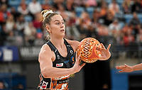 6th June 2021; Ken Rosewall Arena, Sydney, New South Wales, Australia; Australian Suncorp Super Netball, New South Wales, NSW Swifts versus Giants Netball; Jo Harten of the Giants Netball passes the ball