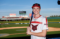 Cade Barnett during the Under Armour All-America Tournament powered by Baseball Factory on January 17, 2020 at Sloan Park in Mesa, Arizona.  (Zachary Lucy/Four Seam Images)