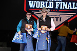 Cole Drum, Luke Phillips, during the Team Roping Back Number Presentation at the Junior World Finals. Photo by Andy Watson. Written permission must be obtained to use this photo in any manner.