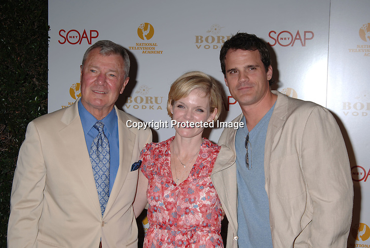 Don Hastings, Maura West and Michael Park of As The World Turns..at The SOAPnet and The National Academy Of Television Arts & Sciences Annual Daytime Emmy Awards Nominee Party on April 27, 2006 at The Hollywood Roosevelt Hotel. ..Robin Platzer, Twin Images