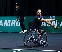 Rotterdam, The Netherlands, 12 Februari 2020, Wheelchair: Maikel Scheffers (NED).<br /> Photo: www.tennisimages.com