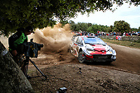 5th June 2021; Monte Acuto, Sardinia; WRC rally of Italia Sardinia; Takamoto Katsuka-Toyota Yaris WRC