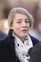 Canadian Minister of Culture Melanie Joly<br /> attend<br /> the funerals of Jean Lapierre, former politician and media,<br />  April 16, 2016 in Outremont.<br /> <br /> Photo : Pierre Roussel - Agence Quebec Presse<br /> <br /> <br /> <br /> <br /> <br /> <br /> <br /> <br /> .