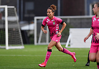 midfielder Ines Dhaou of Sporting Charleroi pictured during a female soccer game between Sporting Charleroi and FC Femina White Star Woluwe on the second matchday of the 2020 - 2021 season of Belgian Scooore Women s SuperLeague , friday 4 th of September 2020  in Marcinelle , Belgium . PHOTO SPORTPIX.BE | SPP | DAVID CATRY