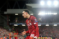 Liverpool's Trent Alexander-Arnold reacts in frustration<br /> <br /> Photographer Rich Linley/CameraSport<br /> <br /> UEFA Champions League Round of 16 Second Leg - Liverpool v Atletico Madrid - Wednesday 11th March 2020 - Anfield - Liverpool<br />  <br /> World Copyright © 2020 CameraSport. All rights reserved. 43 Linden Ave. Countesthorpe. Leicester. England. LE8 5PG - Tel: +44 (0) 116 277 4147 - admin@camerasport.com - www.camerasport.com