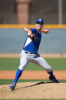 Kansas City Royals pitcher Eric Stout (43) during an Instructional League game against the Texas Rangers on October 4, 2016 at the Surprise Stadium Complex in Surprise, Arizona.  (Mike Janes/Four Seam Images)