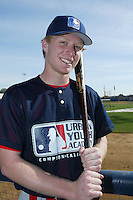 February 10 2008: Aaron Gates participates in a MLB pre draft workout for high school players at the Urban Youth Academy in Compton,CA.  Photo by Larry Goren/Four Seam Images